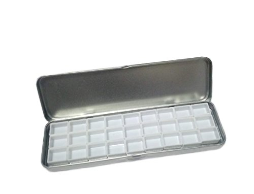 Pebble Art Empty 27 Half Pans Watercolor Metal Palette Ca...