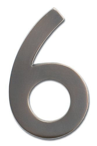 Architectural Mailboxes 3582DC-6 Brass 4-Inch Floating House Number, Dark Aged Copper 6 by ARCHITECTURAL MAILBOXES by ARCHITECTURAL MAILBOXES