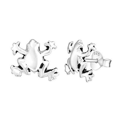 925 Sterling Silver Plain Frog Stud - Frog Silver Sterling Small