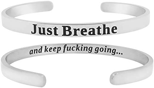 SheridanStar Breathe Motivational Mantra Bracelet