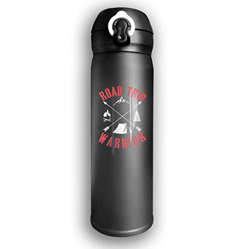 Qiop Nee Insulated Vacuum 17oz Stainless Steel Water Mug Road Trip Warrior for Travel