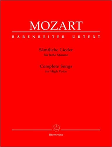 Complete Songs For High Voice: Wolfgang A  Mozart