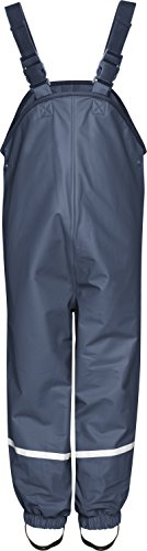 Playshoes Unisex Baby and Kids' Fleece Lined Rain Pants (Navy, 3-4 Years) by Playshoes
