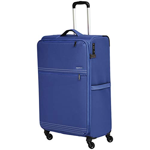 - AmazonBasics Lightweight Softside Rolling Spinner Suitcase Luggage - 32 Inch, Blue
