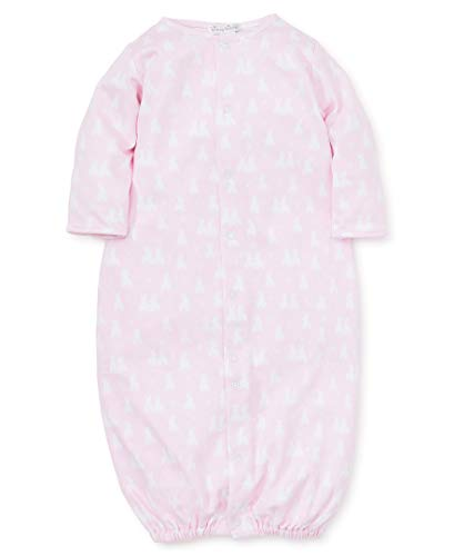 Kissy Kissy Baby-Girls Infant Cushy Cottontails Pink Print Convertible Gown-Pink-Newborn