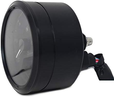 DK MOTOR SM-0011 Digital Gauge Motorcycle Speedometer//Tachometer//Odometer Universal with Multi-function Indicator Light Display Black