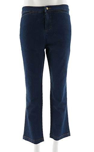 Liz Claiborne NY Hepburn Straight Leg Jeans Med Indigo 14P New A256496