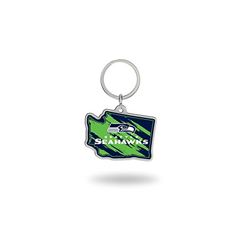 Rico Industries NFL Seattle Seahawks State Shape Keychain