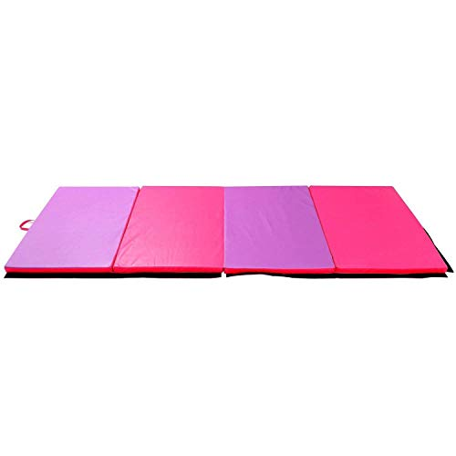 HYD-Parts Large Thick Gymnastics Mat,Exercise Folding Gym Mat for Gymnastics, Child Floor Pad (Purple&Pink - Floor Hyd