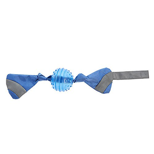 Top Paw Blue Spike Ball with Ballistic Tug Dog Toy