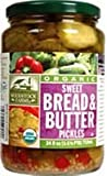 Woodstock Farms Organic Sweet Bread and Butter Pickle, 24 Ounce - 6 per case.
