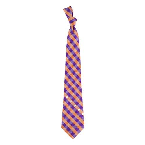 Clemson Check Poly Necktie