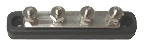 Sierra International FS46150 150A Corrosion Resistant Common Bus Bar with Four 10-24 Stud Terminals, Size 4.13
