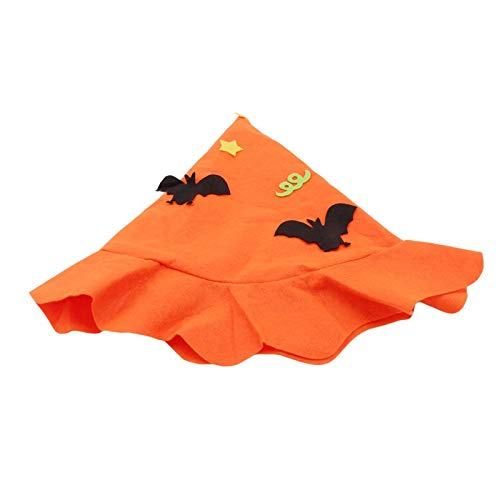 S-Trendy-Homes - Halloween Non-woven Children Hat Pumpkin for Hat Show Performance Dance Headdress Holiday Party Decoration Cosplay Costume ()