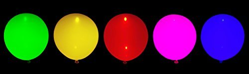 [Futy Balloons Flashing Party Balloons 5 Assorted Colors with LED Light Modes] (Party City Animal Costumes)