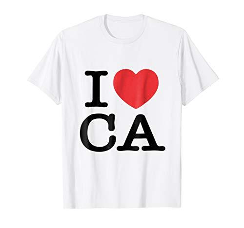 (I Love CA Heart California Tee Shirt)