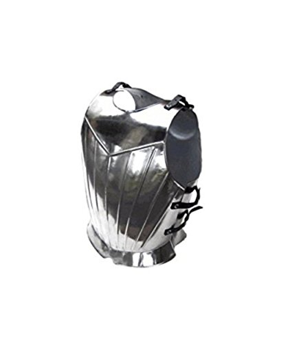Thor Breastplate Costume (Thor Instruments Co. Fluted Gothic Breastplate - Medieval Armor One Size - Silver)