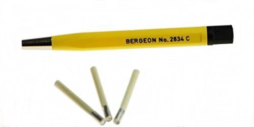 Bergeon-Brushed-Titanium-Steel-Gold-Refinishing-Pen-for-Watches-Scratch-Removal-3-Refill-Tips