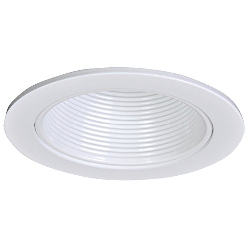 Halo 4010WB White Recessed Trim with White Baffle, 4'' by Halo (Image #1)