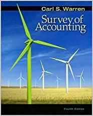 Book Survey of Accounting 4th (forth) edition Text Only