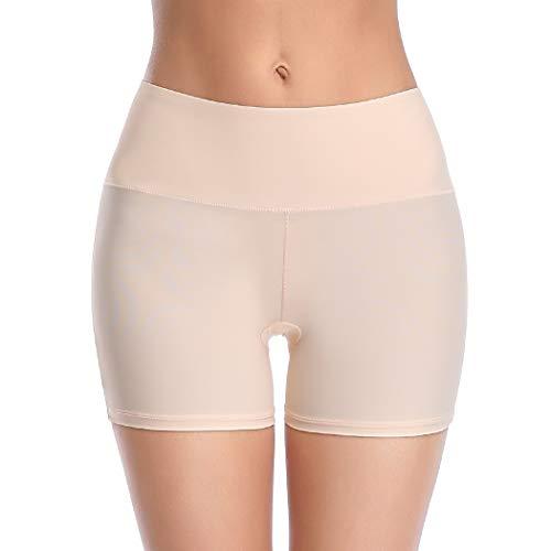 Seamless Shaping Boyshorts Panties for Women Tummy Control Mid Waist Shapewear Underwear (Nude-Smooth Mid Waist, S)