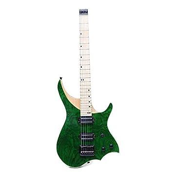 Taihang 24 trastes verde ASH Cuerpo de madera Maple Neck Solid Flame Maple Fingerboard Guitarra eléctrica: Amazon.es: Instrumentos musicales