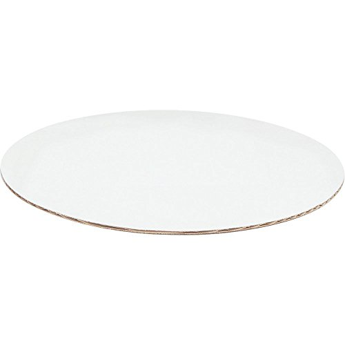 "Pizza Circle White Corrugated Paper - 18""Dia 50 per Case"