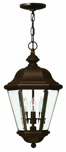Hinkley 2422CB Traditional Three Light Hanging Lantern from Clifton Park collection in Copperfinish,