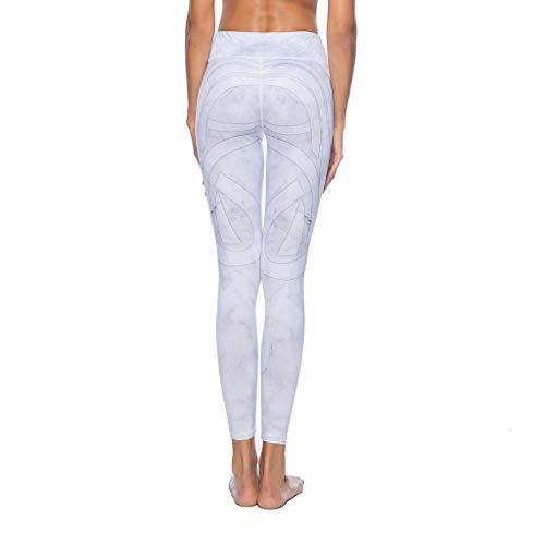 senza movimento al Leisure Fitness vita di Perdere per Slim a seta latte libera Pantaloni Donna Hip Jogging Pantalone peso Fit cuciture bianco il qTUEOwcEx