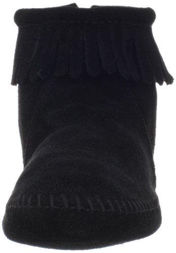 Minnetonka Back Zipper Boot 289, Damen Stiefel Black (Black)