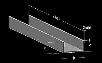 Gut gemocht Alu U-Profil 20 x 60 x 20 x 2,0 mm Aluminium AlMgSi0,5 U-Stab OL14
