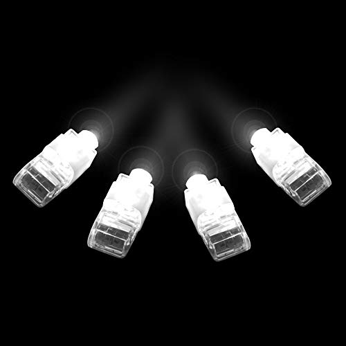 Fun Central X824, 36ct, White LED Light Up Finger Lights, Mini LED Finger Flashlights , Small Glow Finger Lights, Party Supplies Pack, LED Light Party Pack, Finger LEDs for Concert Rave Night Parties -
