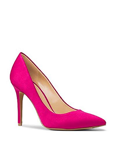 Michael Michael Kors Womens Claire Satin Pumps Ultra Footwear Pink 7.5 M US