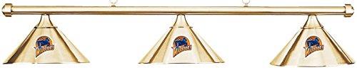 Imperial NBA Golden State Warriors Brass Shade & Brass Bar Billiard Pool Table Light (Warriors Golden Pool State)