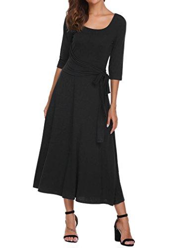 long black lycra dress - 5