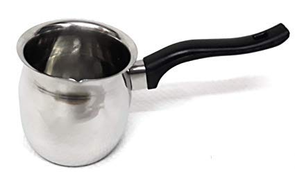 Milk Or Butter Warmer Pot, Turkish Coffee Pot with Black Handle 24oz Capacity - 3/4 oz by Chef Valley Products (Image #1)