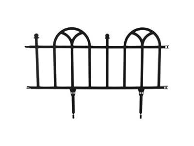 TerraTrade Victorian Plastic Garden Border Fencing Set, 4pack