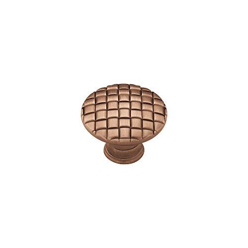 Liberty PN0416-RAL-C 30mm Basket Weave Kitchen Cabinet Hardware Knob, Red Antique