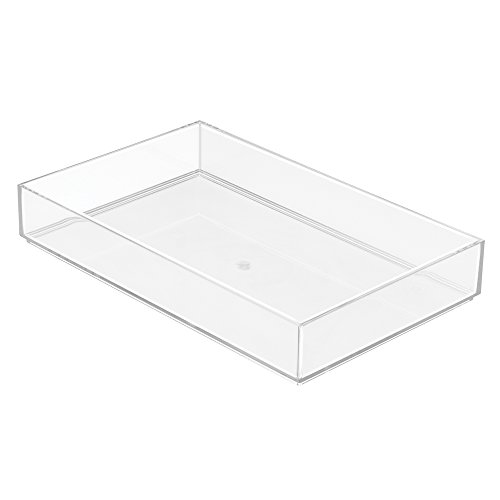 InterDesign 40830 Clarity Cosmetic Drawer Organizer for Vanity Cabinet – Perfect for Storing Makeup, Beauty Products - Extra Large, Clear