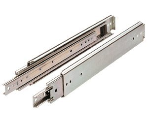Drawer Slide, Full Extension, 48 in, Heavy Duty, 500 lb. Capacity, Zinc (Bearing Slides Full Ball Extension)