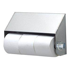 Royce Rolls Model Stainless Steel Slanted Triple (Three-Roll) Toilet Paper Holder Dispenser - #STP-3 with #TP-CLIP