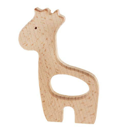 (Safe Wooden Teething Pendant Horse Shape for Mom and Baby DIY Findings Craft Necklace Jewelry Crafting Key Chain Bracelet Pendants Accessories Best)