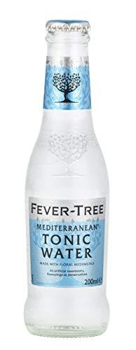 Fever-Tree Mediterranean Tonic Water, 6.8 Fl Oz Glass Bottle (24 Count)