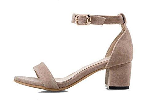 MEILI Frauen starke Ferse Schnalle Sandalen 1
