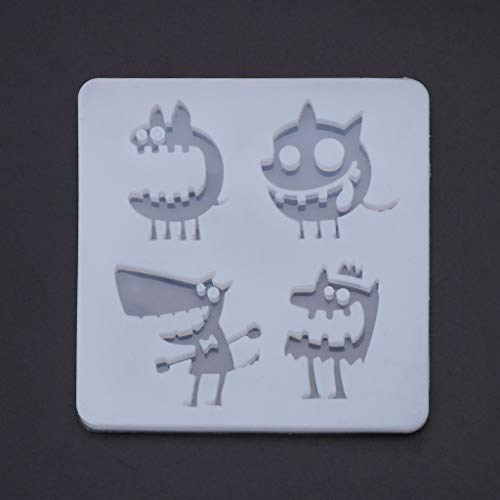 New Arrival Silicone Mold DIY Jewelry Making Tools Halloween Monster Funny Epoxy Resin Pendant Mirror UV Accessories -