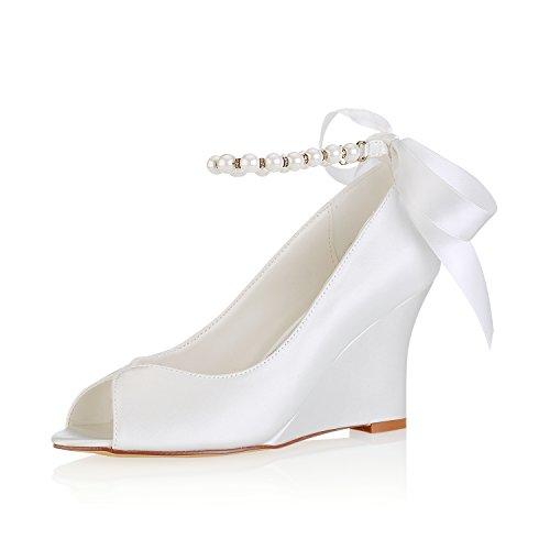 Mujeres Verano 8cm Zapatos De Satén Primavera Boda 4u® Best Las Ok0wP8nX
