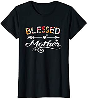 Birthday Gift Womens Mother  - Blessed Mother Flower Mother's Day Gift Short and Long Sleeve Shirt/Hoodie