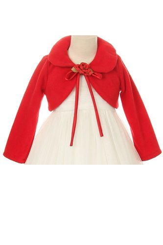 Cozy Long Sleeve Bolero Jacket Cover - Red Girl