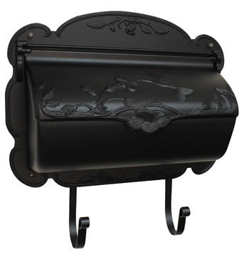 - Hummingbird Horizontal Wall Mounted Mailbox Finish: Black