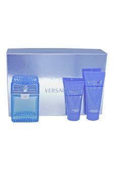 Versace Man Eau Fraiche by Versace for Men - 3 Pc Gift Set 3.4oz EDT Spray, 3.4oz Perfumed Bath and Shower Gel, 3.4oz After Shave Balm